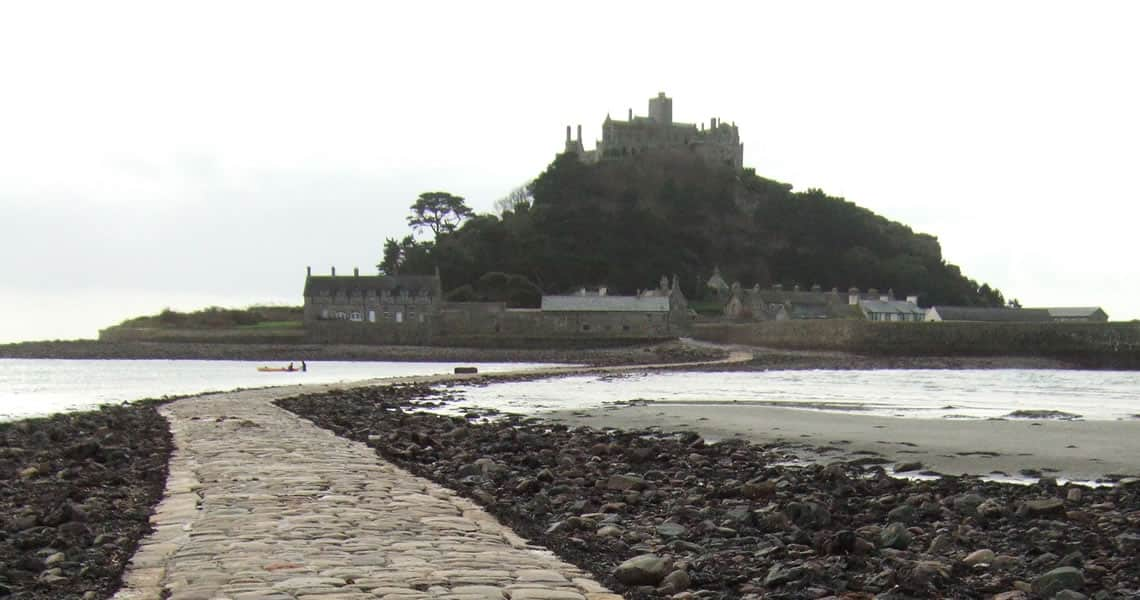 St Michaels Mount at low tide