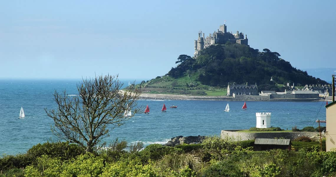 View to St Michaels Mount from the cottages
